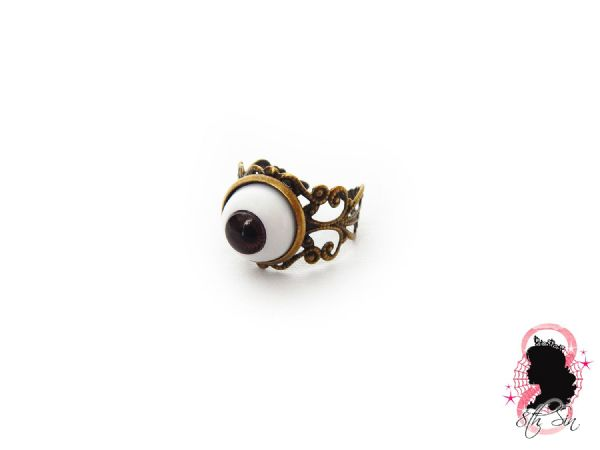 Antique Bronze Eyeball Ring